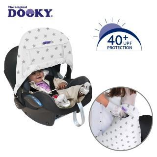 【荷蘭Dooky】抗UV手提汽座前遮陽罩-銀白星星
