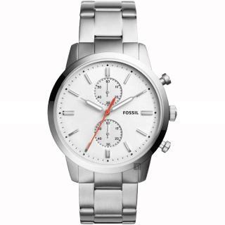 【FOSSIL】Townsman 城區計時手錶-銀/45mm(FS5346)