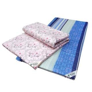 【VICTORIA】單人天然乳膠床墊-4公分(每批生產花色不同隨機出貨)