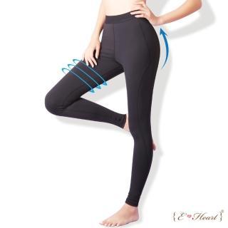 【E‧Heart】運動曲線彈性修飾壓力褲買1送1件組(贈迪士尼日本限定提袋)