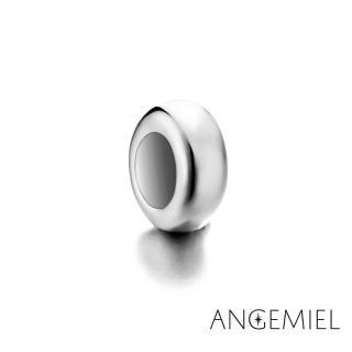 【Angemiel安婕米】925純銀珠飾 固定珠 簡約(銀)