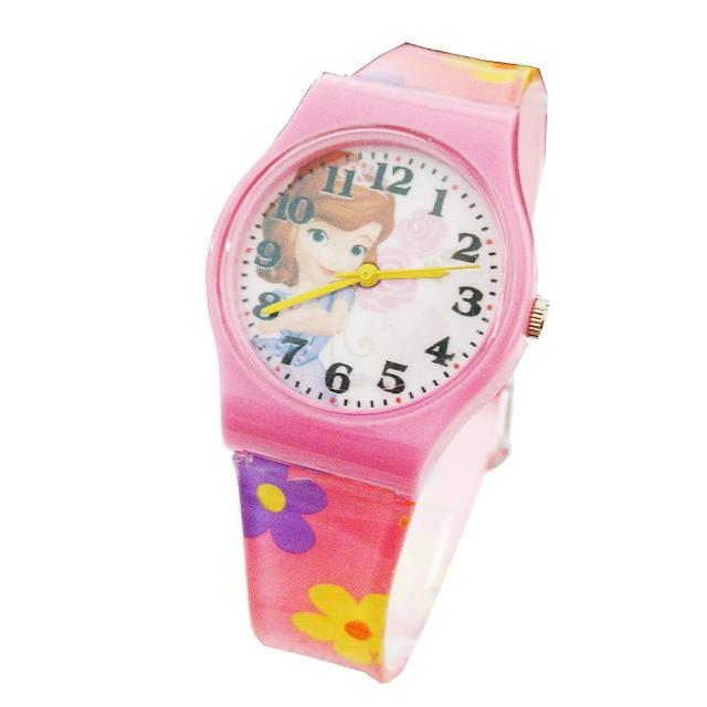 【迪士尼DISNEY】公主膠帶兒童錶卡通錶-蘇菲亞公主(開學 考試)