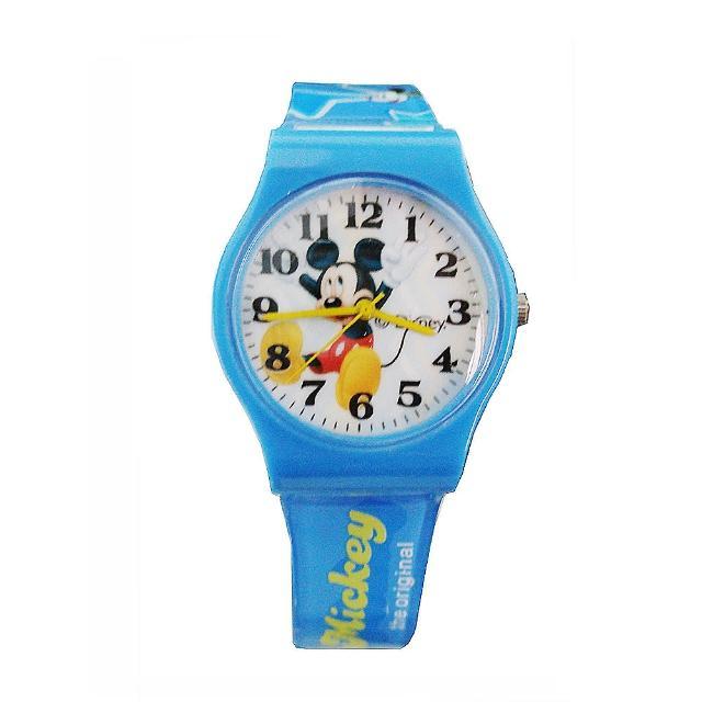 【迪士尼DISNEY】米奇米妮膠帶兒童錶卡通錶-飛舞米奇(開學 米奇妙妙屋 考試)