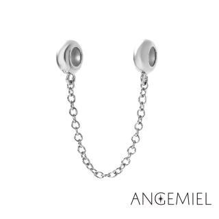 【Angemiel安婕米】925純銀珠飾 安全鍊 簡約(銀)