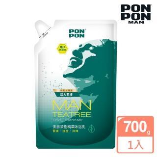 【澎澎MAN】茶樹精華沐浴乳-補充包700g(添加瑪卡新配方)