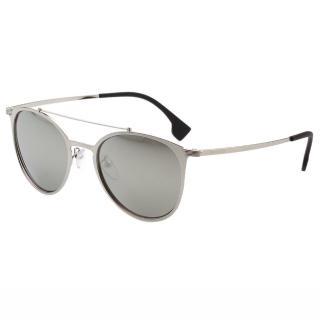 【POLICE】時尚造型 水銀面 太陽眼鏡 PE-SPL156V(銀色)