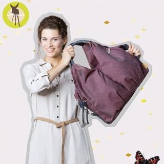【Lassig】時尚單寧托特媽媽包-6色