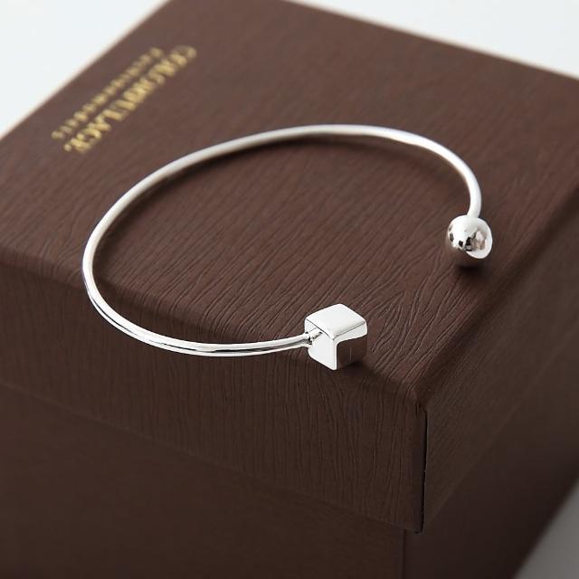 【玖飾時尚】方塊C型缺口手環(925純銀)