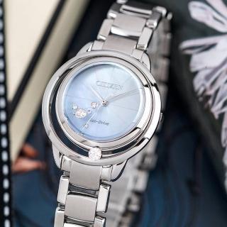 【CITIZEN 星辰】Eco-Drive 閃耀鑽石光動能時尚腕錶(EW5520-84D)