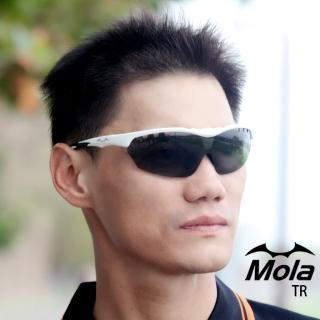 【MOLA SPORTS】MOLA SPORTS 摩拉偏光運動太陽眼鏡 頂級抗磨鏡片 超輕量 自行車 跑步 戶外休閒 開車 TR-wpg