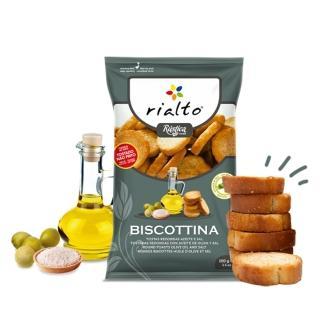 【Rialto】非油炸吐司脆餅-淡鹽橄欖油口味(100g)