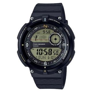 【CASIO 卡西歐】新時代數位羅盤世界時間登山錶(SGW-600H-9A)