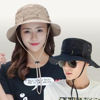 【I.Dear】韓系戶外男女防曬遮陽純色漁夫帽(4色)