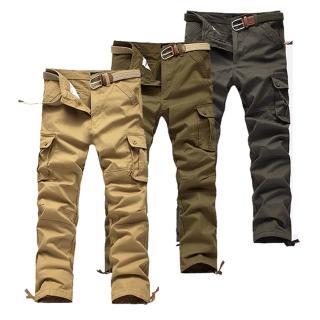 【美國熊】立體感多口袋‧ 紮實水洗面料‧六袋款工作褲(GAOK-66)