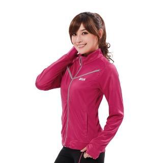 【遊遍天下】女款透氣吸排防風抗UV立領露指外套GJ10008桃紅(M-5L)