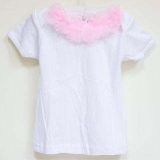 【美國 Chic Baby Rose】手工雪紡純棉上衣_脖子圈圈款(短袖 / 淡粉)