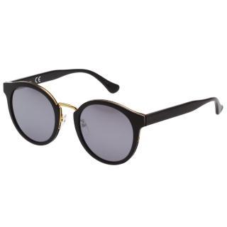 【Calvin Klein (CK)】水銀面 復古太陽眼鏡 CK4337SK(黑色)