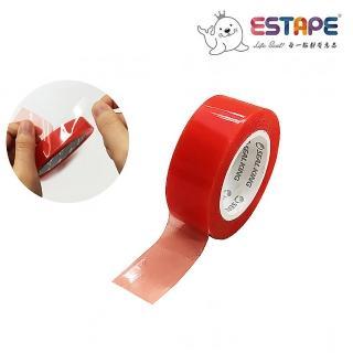 【ESTAPE】超黏紅魔鬼雙面膠帶(透明雙面膠/18mmx5M)