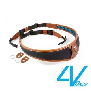 【4V Design】ALA系列相機背帶 LU-CV0923-黑/棕色/L(彩宣總代理)