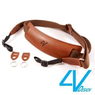 【4V Design】LUSSO-LARGE系列相機背帶LP01B-VV2323-棕/棕色(L)