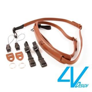 【4V Design】LUSSO-SLIM系列相機背帶SP01B-VV2323-棕/棕色/S(彩宣總代理)