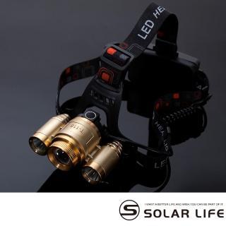 【索樂生活】T6充電頭戴式登山工作變焦頭燈(充電式頭燈 頭戴式頭燈 釣魚頭燈 LED頭燈 照明燈 探照燈)