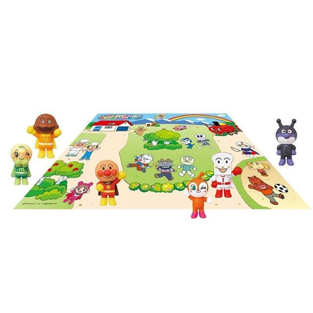 【ANPANMAN 麵包超人】ANP 六入人形+地圖玩具