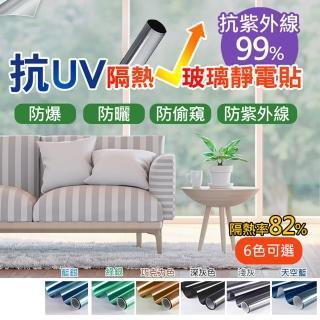 防紫外線抗UV隔熱玻璃貼(5入)