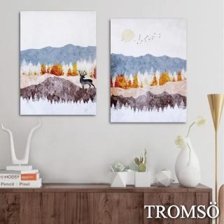 【TROMSO】時尚無框畫-北歐森林(二幅一組無框畫40X55CM)