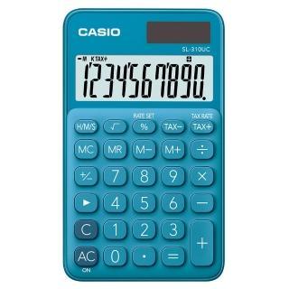 【CASIO 卡西歐】10位元甜美馬卡龍口袋型計算機-俏藍莓(SL-310UC-BU)