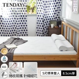 【TENDAYS】DS柔眠床墊5尺標準雙人 贈床墊透氣網(晨曦白 8.5cm厚 記憶床)