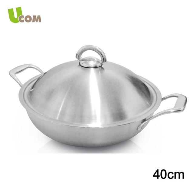 【UCOM】新都會複合金316雙耳炒鍋(40cm)