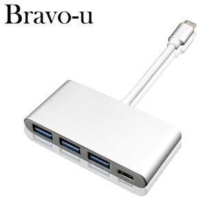 【Bravo-u】Type-C 鋁合金USB3.0 3Port /Type-C轉接卡