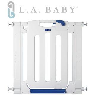 【L.A. Baby】幼兒安全自動上鎖門欄 單向/圍欄/柵欄(純白色/附贈兩片延伸件)