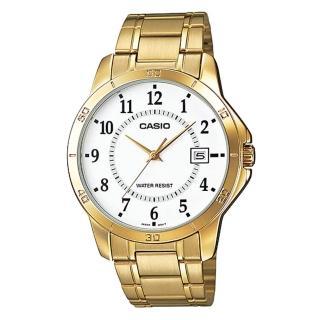 【CASIO 卡西歐】時尚新貴造型腕錶(MTP-V004G-7B)