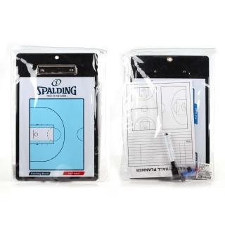【SPALDING】雙面戰術盤-斯伯丁 配件 教戰板 教練板 籃球 依賣場(SPB85004)