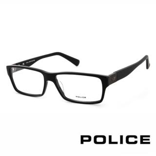 【POLICE】義大利警察都會款個性型男眼鏡(POV1772M0700 -黑)