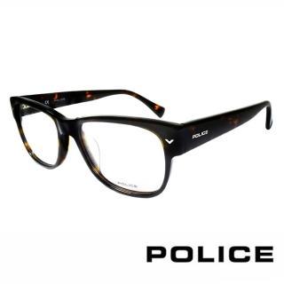 【POLICE】義大利警察都會款個性型男眼鏡(POV1765M0722 -豹紋)