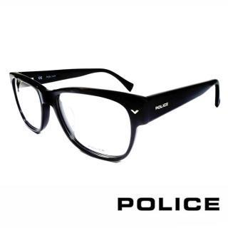 【POLICE】義大利警察都會款個性型男眼鏡(POV1765M0700 -亮黑)