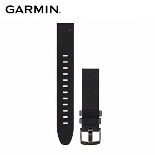 【GARMIN】QUICKFIT 20mm 黑色皮革錶帶