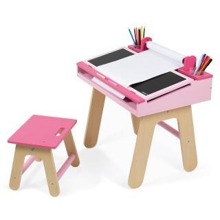 【法國Janod】兒童學習畫桌組(粉紅)