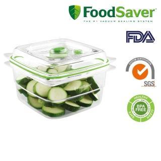 【獨家抽紅利金】FoodSaver真空密鮮盒2入組(中-1.2L)