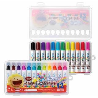 【雄獅x奶油獅】BLW-12/B 奶油獅12色可水洗彩色筆