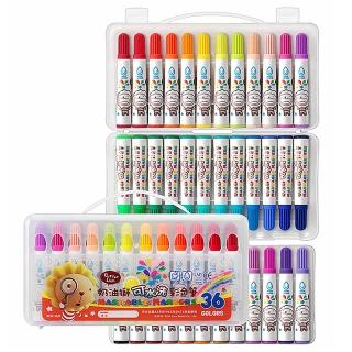【雄獅x奶油獅】BLW-36/B 奶油獅36色可水洗彩色筆