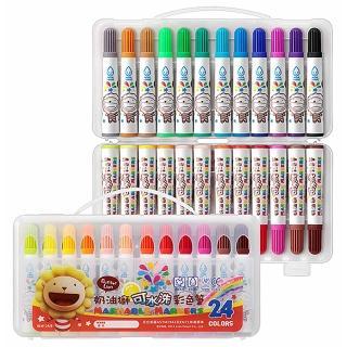 【雄獅x奶油獅】BLW-24/B 奶油獅24色可水洗彩色筆