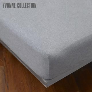 【Yvonne Collection】單人素面純棉床包(暗灰)