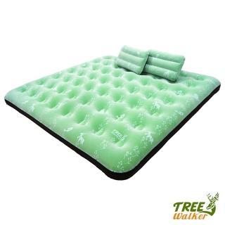 【TreeWalker】鏕遊趣雙印植絨充氣床(附枕頭)
