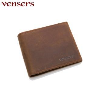 【Vensers】小牛皮潮流個性皮夾(NB600501瘋馬皮短夾)
