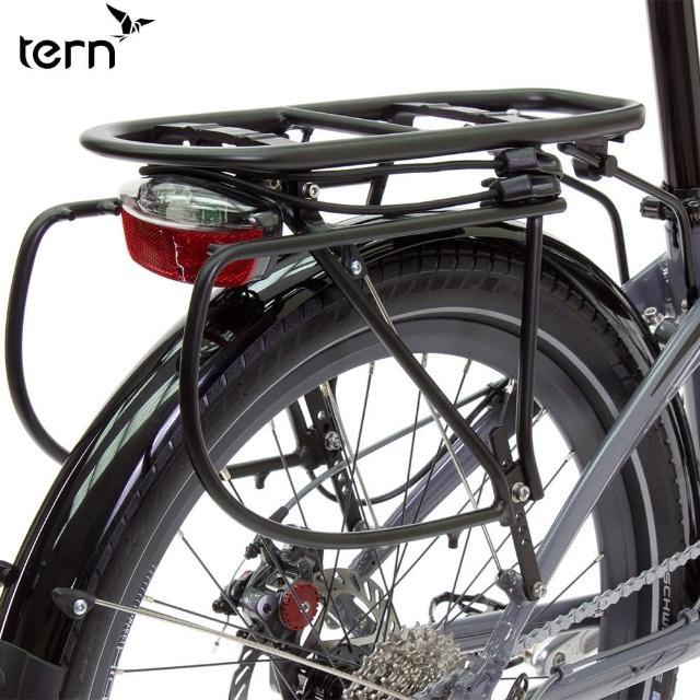 【Tern】Cargo Rack 鋁合金附綁繩專用後貨架-黑