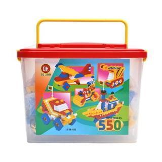 【OK - 教學積木】益智基本顆粒積木收納桶 550 pcs